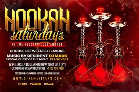 Hookah Party Flyer hookah lounge flyer template xtremeflyers