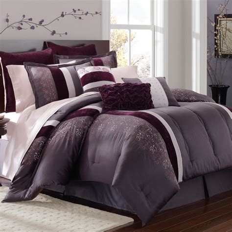 gray and purple comforter passionate about purple color trend blog post from