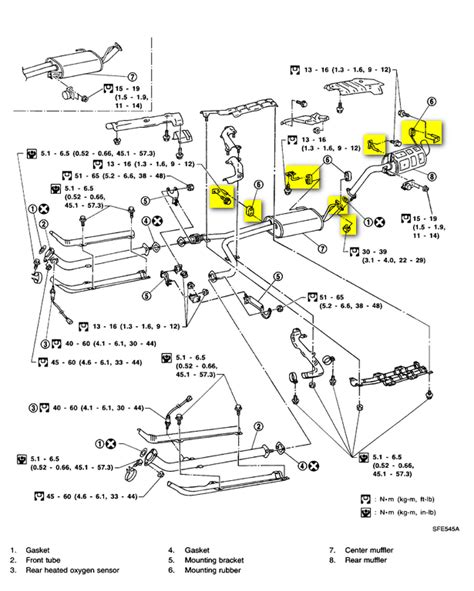 2003 Nissan Pathfinder Exhaust System Diagram 2000 Nissan Pathfinder Started Muffler Exhaust