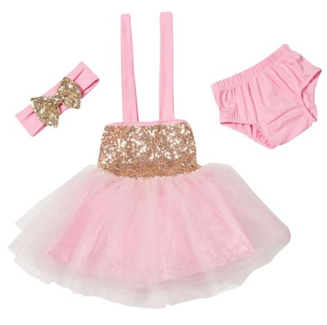 Q483 Baby Pink Birthday Tulle Dress aliexpress buy blush pink gold glitter sparkle tulle dress baby s 1st birthday princess