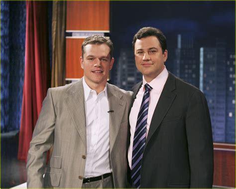 Jimmy Kimmel Mat Damon by Matt Damon Goes Bananas Photo 3821 Jimmy Kimmel Matt