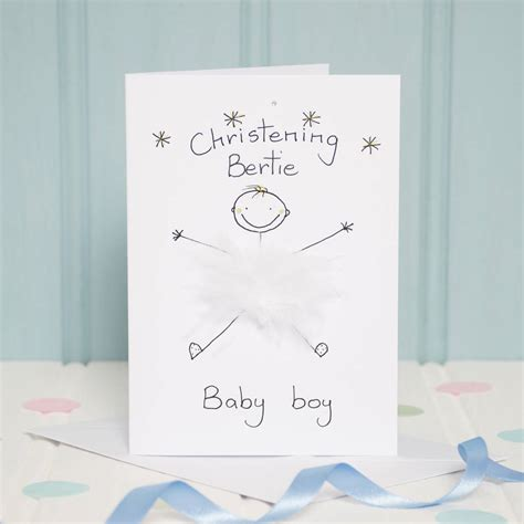 Handmade Personalised Christening Cards - handmade personalised christening card by all things