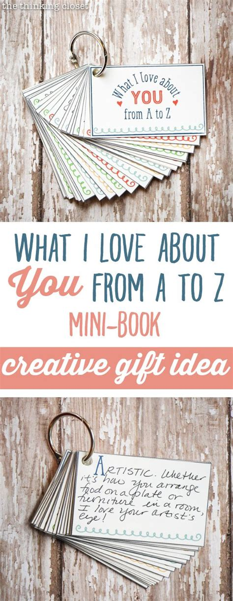 Letter Z Gift Ideas Quot What I About You From A To Z Quot Mini Book Creative Gift Idea That Will Lavish Your