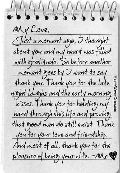 letter of and appreciation to my husband thank you for the pleasure of being your