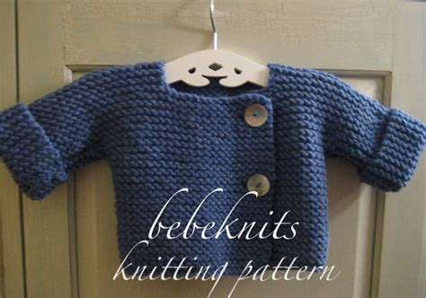 easy knit sweater pattern toddler bebeknits simple french style baby cardigan knitting by
