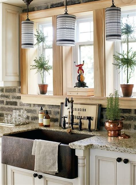 exposed brick backsplash kitchen exposed brick bricks and sinks on