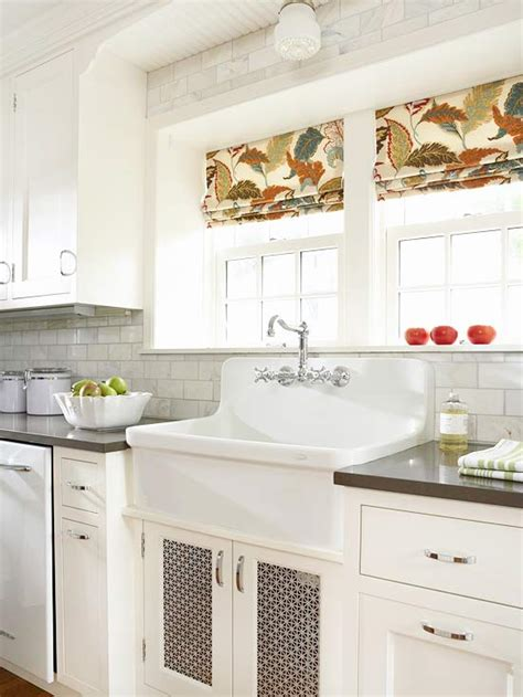 2014 kitchen window treatments ideas inspired by fabric roman shades the inspired room