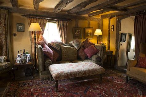 country cottage timbered living room  comfy knowle
