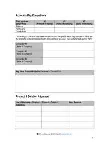Account Report Template strategic account plan template