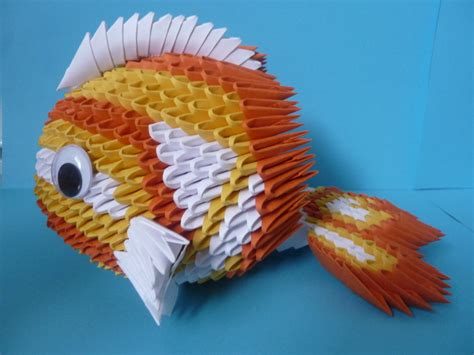 origami 3d fish tutorial 1000 images about 3d origami patronen on pinterest