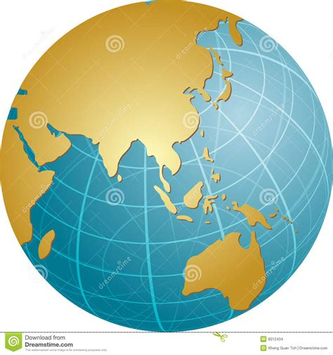 globe map of asia map of asia on globe stock vector image of gradient