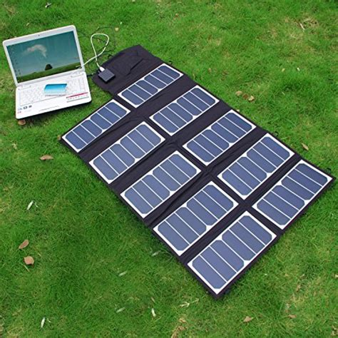 Foldable Solar With 2 Solar Panel Black sunkingdom 65w 2 port dc usb solar charger with high efficiency portable foldable solar panel
