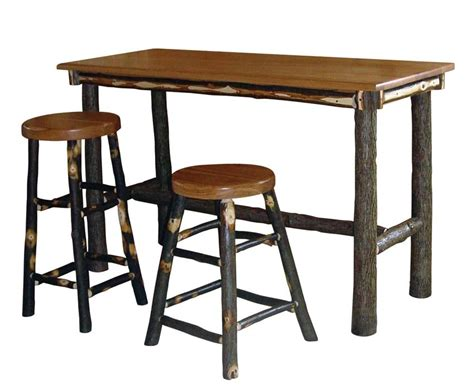 bar top table and chairs amish hickory rectangle pub table