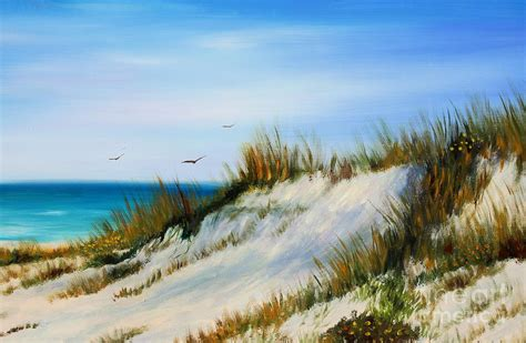 Home Decor Beach by Florida Sand Dunes Painting By Gabriela Valencia