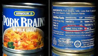 Yes that s right a single serving of pork brain in milk gravy has