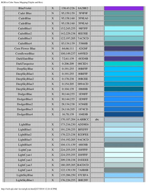 grey blue color name rgb to color name mapping