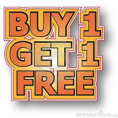 Buys On by Buy 1 Get 1 Free Stock Image Image 15826581