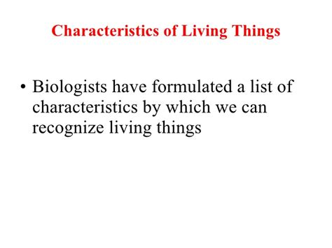 characteristics of sectionalism biology characteristics of living things