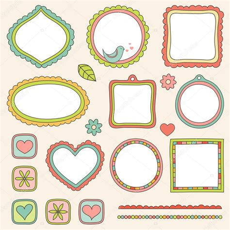 cornici illustrator set of frames vector illustration stock vector