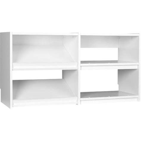 systembuild closet organizer base cubby unit white