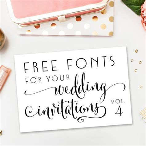 Wedding Invitation Font On Word by A New Collection Of Completely Free Fonts For Your Wedding