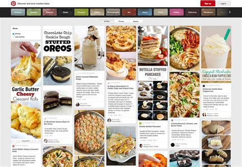 food layout pinterest embracing the latest web trend card based design