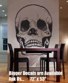Big Head Wall Stickers vinyl wall art decal sticker skull head bones big 72x53 stickerbrand