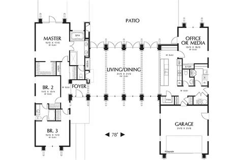15 spectacular h shaped ranch house plans home plans h shaped house floor plans 28 h shaped house floor plans h