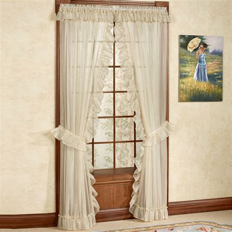 sheer priscilla curtains jessica ninon ruffled priscilla curtains