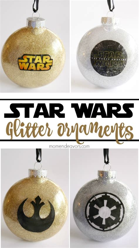 printable star wars christmas decorations diy glitter star wars ornaments