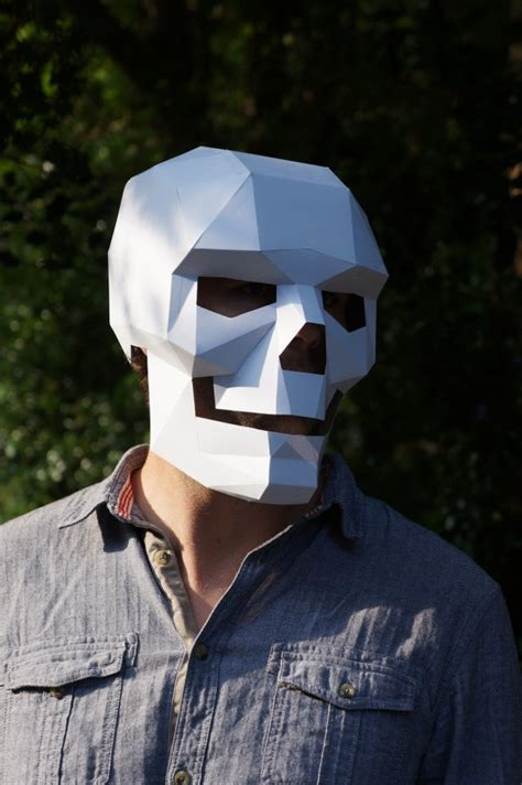 cardboard mask template i m dead make your own skull mask out of cardboard