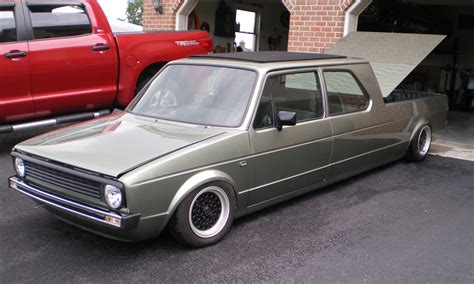 The Amazo Effect Vw Golf Crew Cab Pickup Rabbit On The Rack