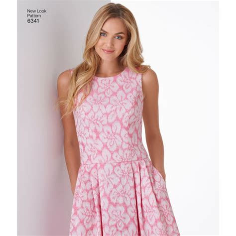 new look 6123 misses dress pattern for misses dress in three lengths simplicity