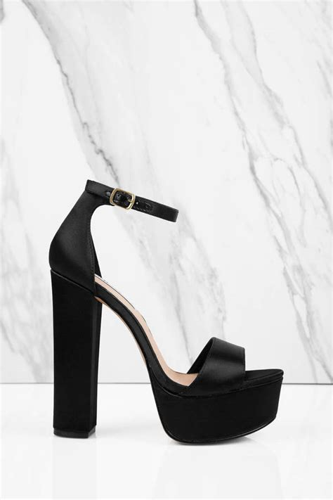 black steve madden heels 5 inch heels black flat platform sandals 49 tobi us