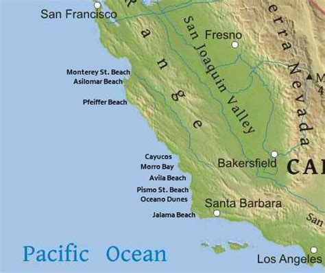 california map of beaches wheelchair availability and accessible beaches in