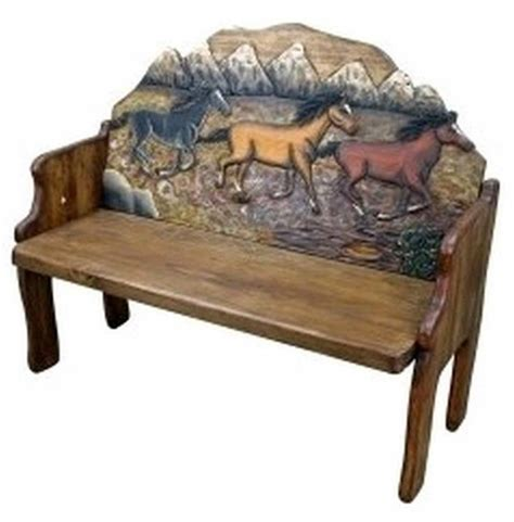 wooden horse bench 1000 images about wooden benches on pinterest benches