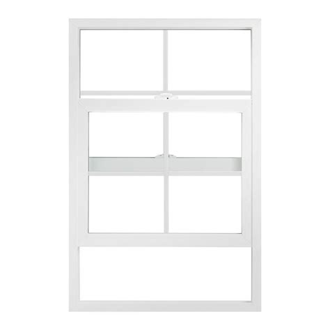 Jeld Wen 24 In X Jeld Wen 24 In X 48 In V 2500 Series Single Hung Vinyl Window With Grids White 8a0618 The
