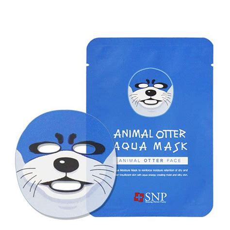 snp animal mask otter aqua mishibox