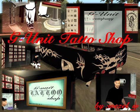 tattoo shop games gta san andreas g unit shop
