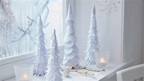 diy weihnachtsdeko winterwald aus papier
