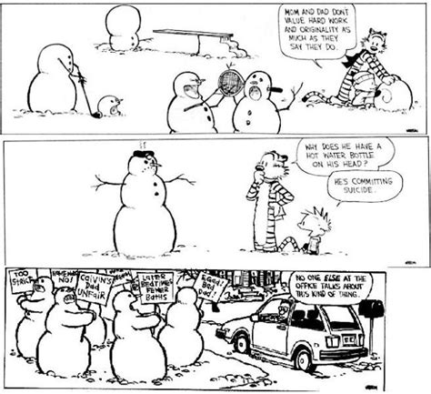 calvin and hobbes snowmen calvin hobbes macha spreads joy