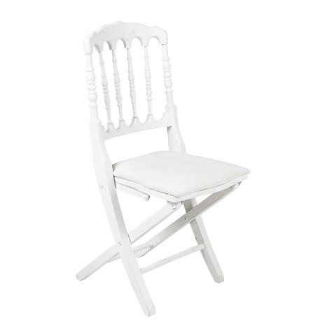 Chaise Napoleon Pliante by Location Chaise Napol 233 On Blanche Pliante Abc Location