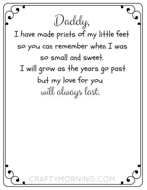 Handprint And Footprint Poem Printables
