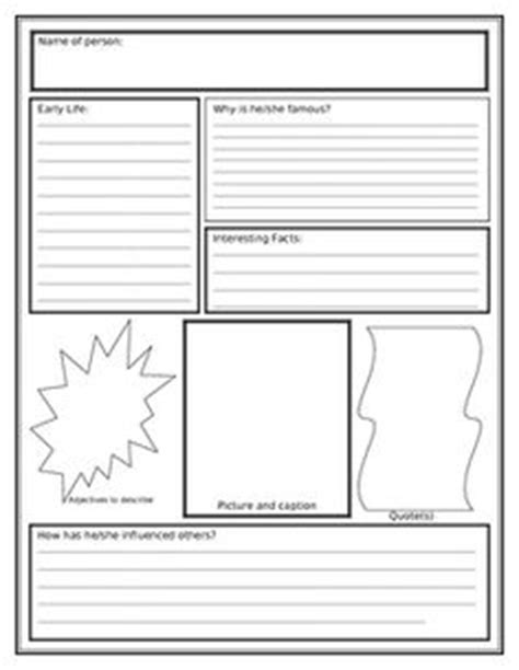 Biography Unit Outline | how to write a biography for kids template google search