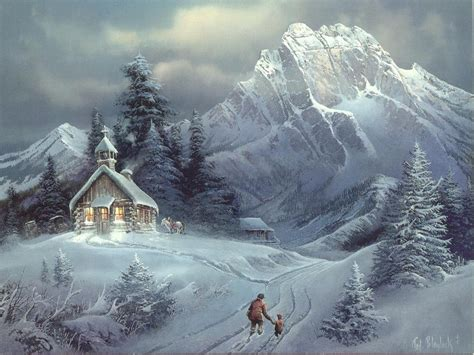 Snow Wallpaper Pinterest | paintings wallpaper winter snow widescreen wallpaper