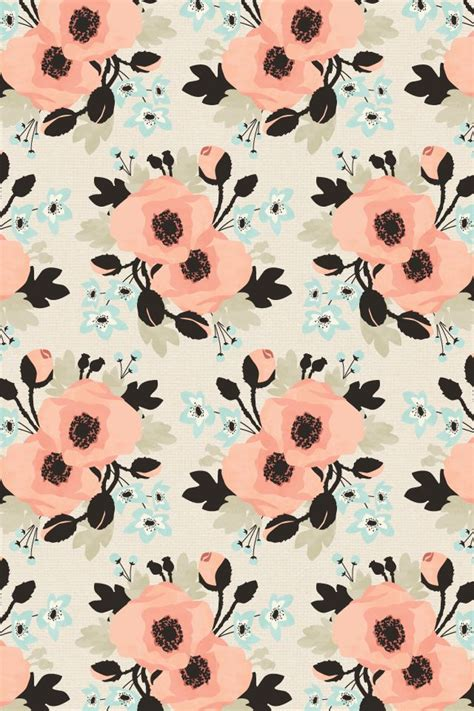 wallpaper pattern repeat meaning eine kleine design studio floral pattern repeat poppy