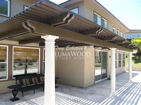 alumawood patio cover exle five louvered awnings for home related keywords louvered
