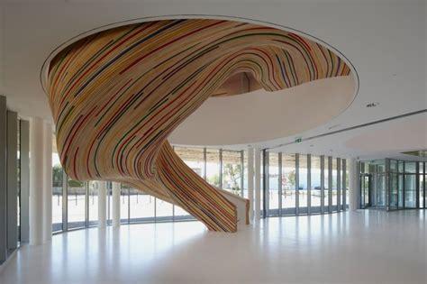 Zig Zag Chair Colorful And Artistic Sculptural Stairs In Beautiful Shape