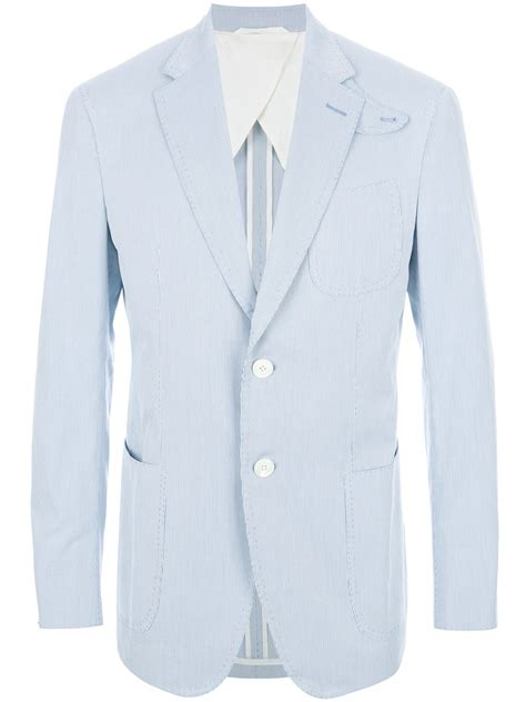Blue Turqish Blazer T1310 1 lyst gx1983 striped blazer in blue for