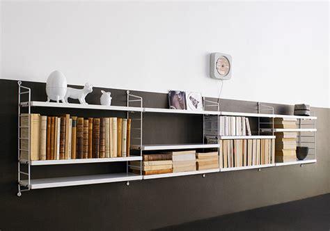 string pocket shelf black walnut shelves by string furniture string pocket shelves